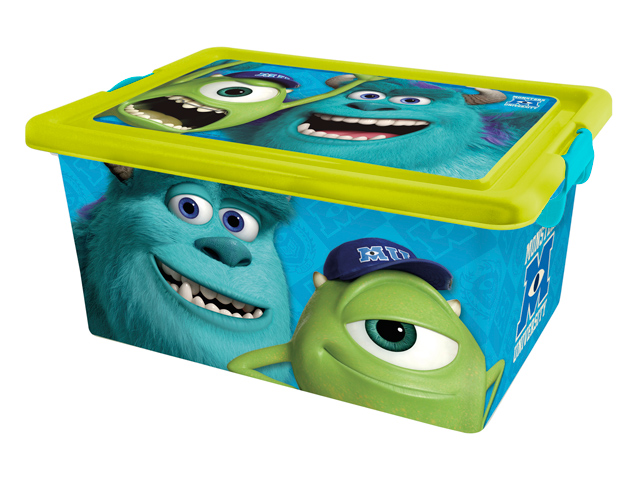 Контейнер 4675 MONSTERS UNIVERSITY пласт. для хранения игрушек 13л ТМ Disney